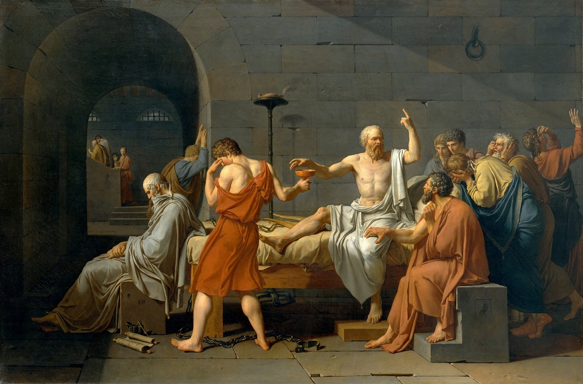 La Mort de Socrate Jacques-Louis David 1787 sito