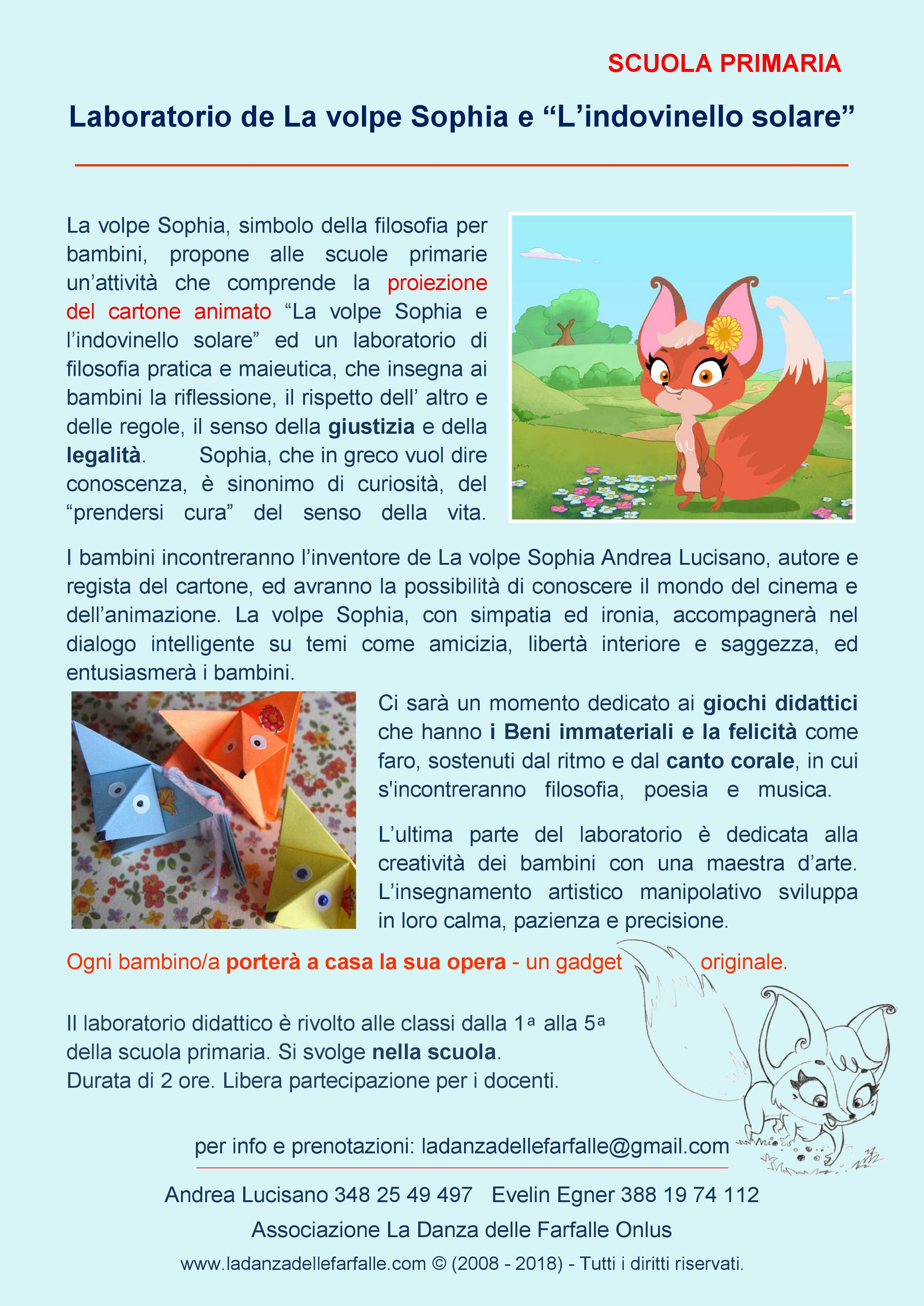 La volpe sophia nelle scuole primarie